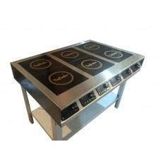 Плита индукционная InCooker 6 конфорок 750мм