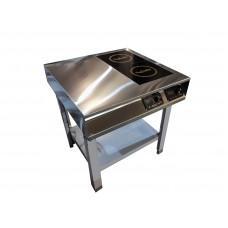 Плита индукционная InCooker 2 конфорки (+стол)